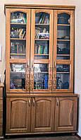 """Шкаф для книг """"Трио 1"""" деревянный книжный стеллаж в гостиную сервант витрина"""