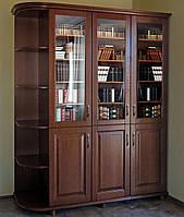 """Шкаф для книг """"Трио 2"""" деревянный книжный стеллаж в гостиную сервант витрина"""