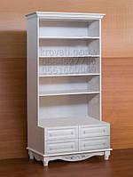 """Шкаф для книг """"Дуэт 10"""" деревянный книжный стеллаж в гостиную сервант витрина"""