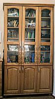 """Шкаф для книг """"Трио 3"""" деревянный книжный стеллаж в гостиную сервант витрина"""