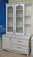"""Шкаф для книг """"Дуэт 11"""" деревянный книжный стеллаж в гостиную сервант витрина"""