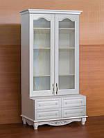 """Шкаф для книг """"Дуэт 12"""" деревянный книжный стеллаж в гостиную сервант витрина"""