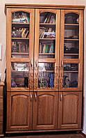 """Шкаф для книг """"Трио 4"""" деревянный книжный стеллаж в гостиную сервант витрина"""