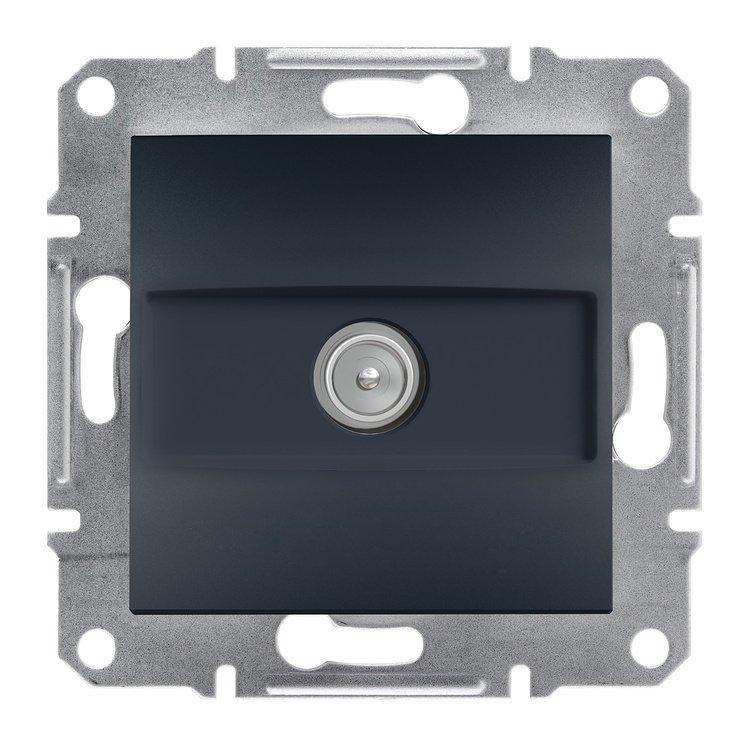 Розетка Schneider-Electric Asfora Plus TV концевая (1 дБ) антрацит (EPH3200171)