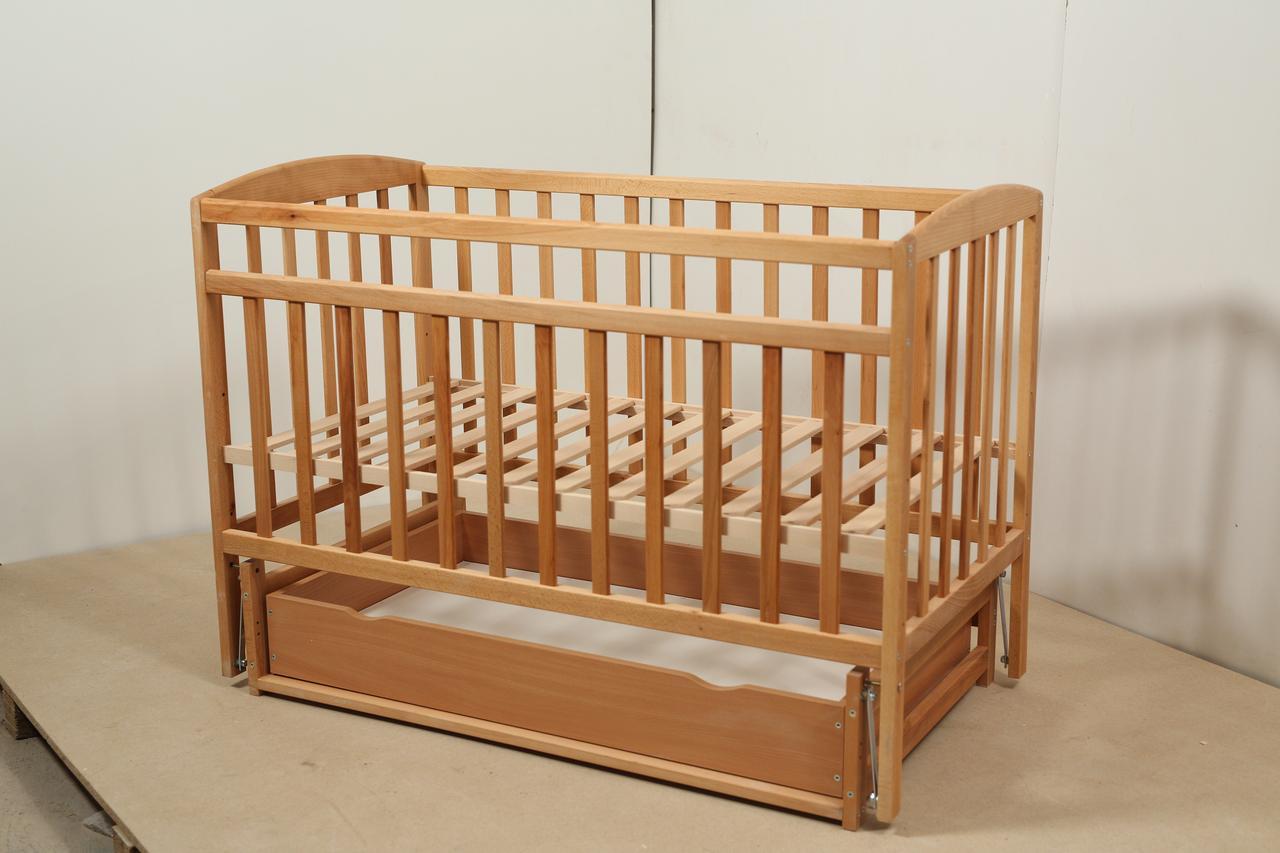 Кровать «Valeri» на шарнирах с ящиком на подшипниках (600 * 1200) (Бук)