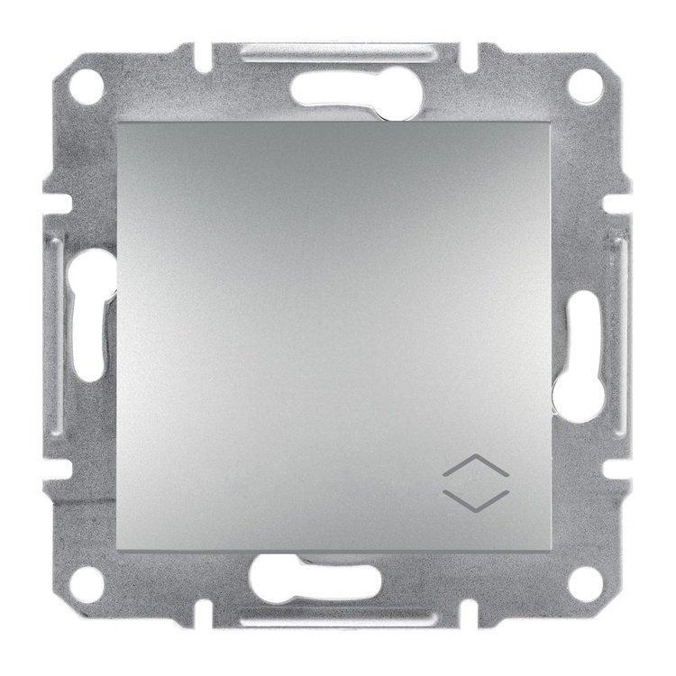 Переключатель Schneider-Electric Asfora Plus 1-клавишный проходной алюминий (EPH0400161)