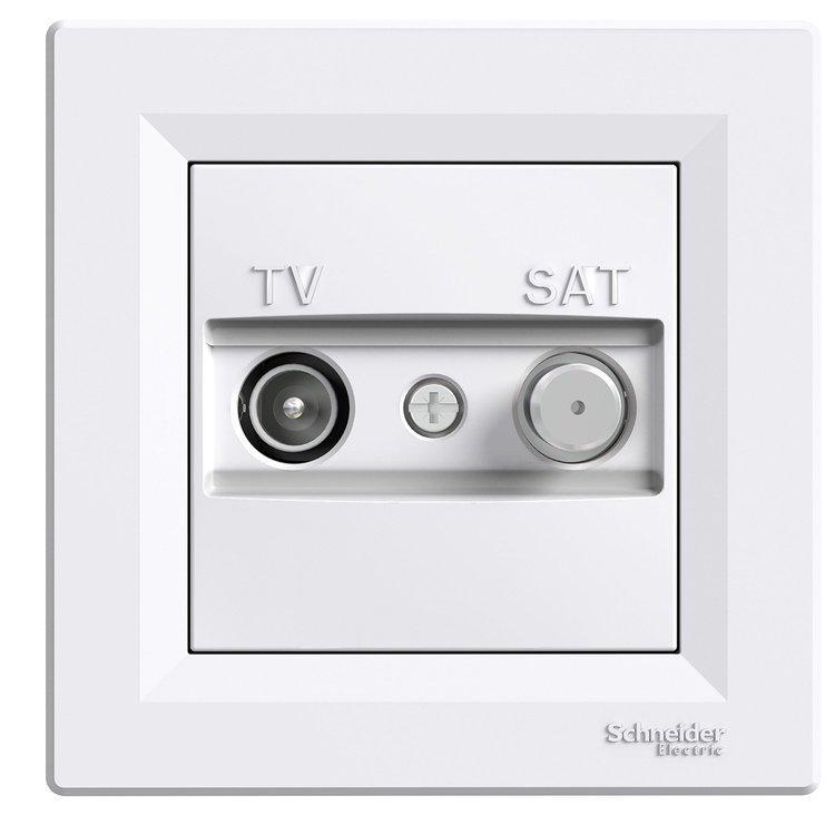 Розетка Schneider-Electric Asfora TV-SAT концевая (1 дБ) белая (EPH3400121)