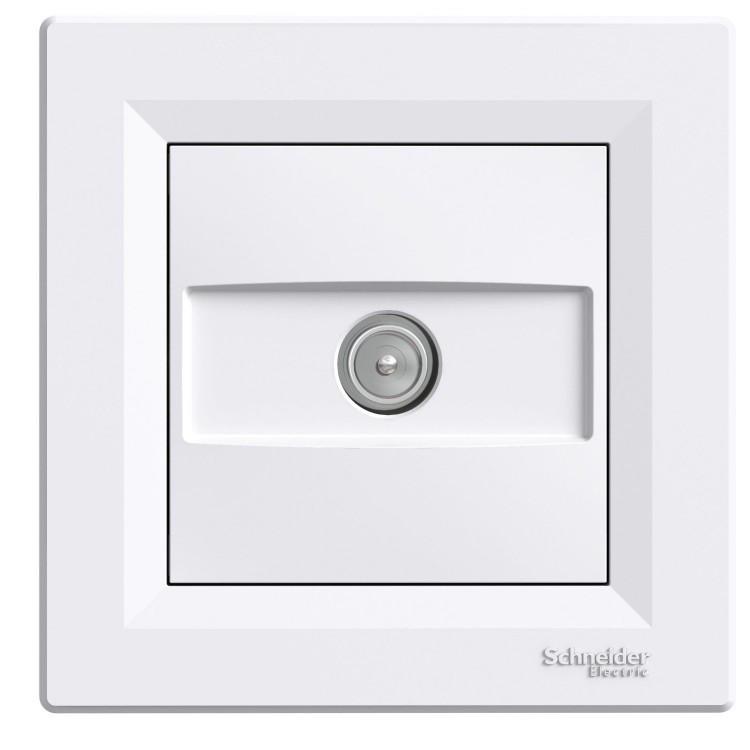Розетка Schneider-Electric Asfora TV проходная белая (EPH3200221)