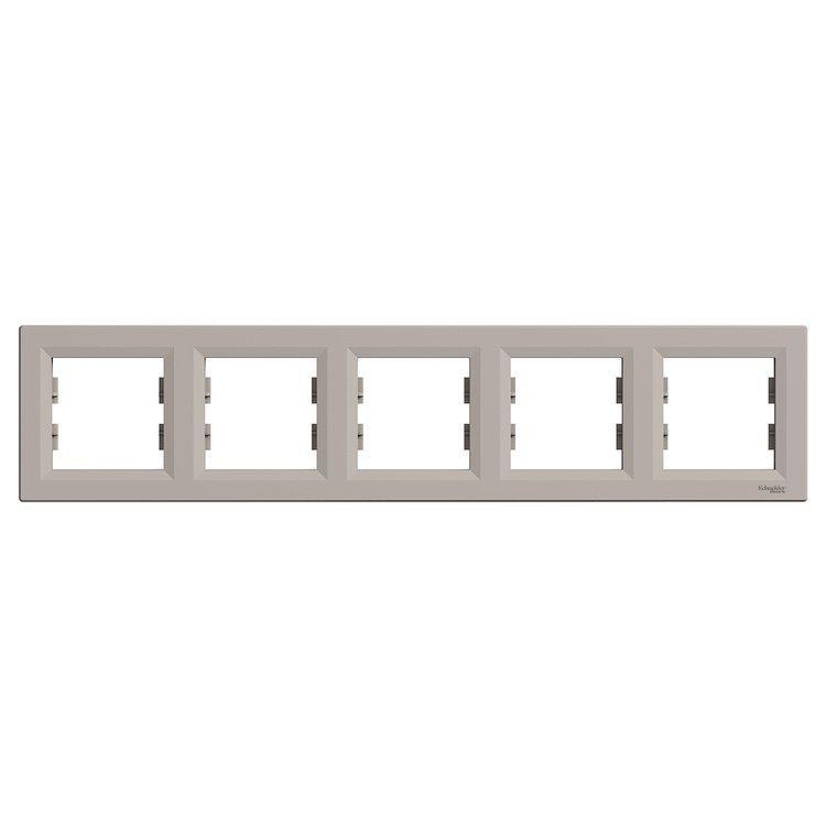 Рамка Schneider-Electric Asfora Plus 5-постовая горизонтальная бронза (EPH5800569)