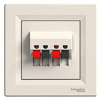 Розетка Schneider-Electric Asfora аудио двойная кремовый (EPH5700123)
