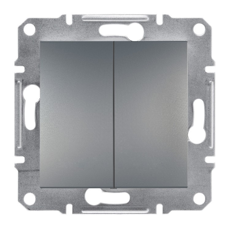 Кнопка Schneider-Electric Asfora двойная сталь (EPH1100162)