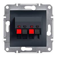 Розетка Schneider-Electric Asfora Plus аудио двойная антрацит (EPH5700171)