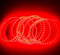 Светодиодная лента в силиконе 220В 120LED красный IP65