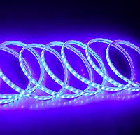 Светодиодная лента в силиконе 220В 120LED синий IP65