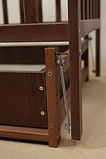 Кровать «Valeri» на шарнирах с ящиком на подшипниках (600 * 1200) (Венге), фото 3