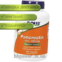 Панкреатин NOW Foods Pancreatin 250 капсул