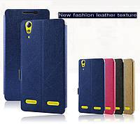 """Lenovo A6010 A6000 оригинальный чехол книжка шелковая фактуры SILC ткань влагостойкий для телефона """"BONCOLOR"""""""