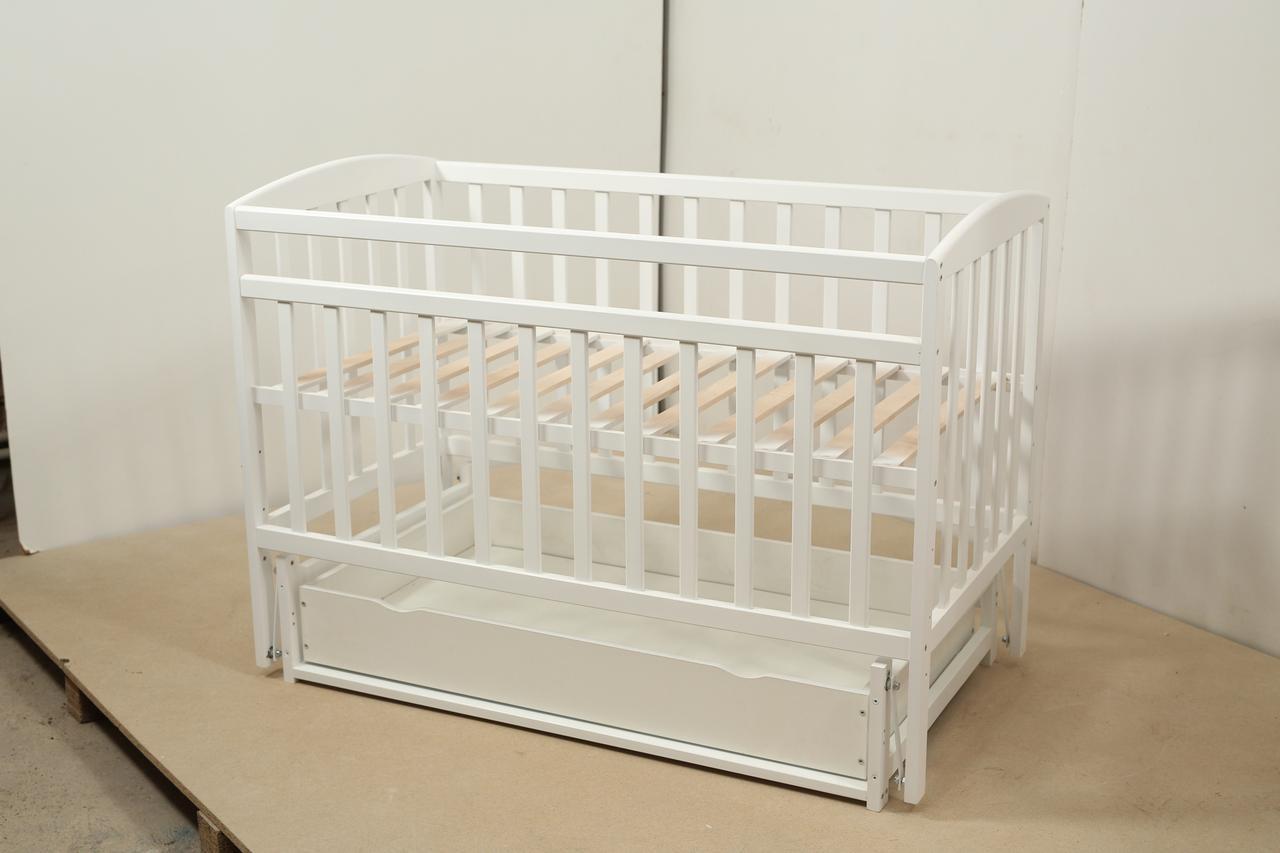 Кровать «Valeri» на шарнирах с ящиком на подшипниках (600 * 1200) (Белый)