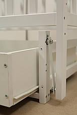 Кровать «Valeri» на шарнирах с ящиком на подшипниках (600 * 1200) (Белый), фото 3