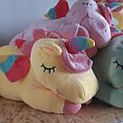 Іграшка-плед-подушка Єдиноріг 🦄 розмір іграшки 60х30, фото 6