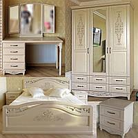 """Комплект мебели спальни """"Марго"""" спальный гарнитур. Деревянная белая, красивая спальня"""
