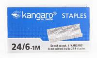 Скобы №10 (1000 шт/уп) Kangaro красный