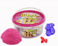 Песок Magic sand розового цвета в ведре 0,350 кг