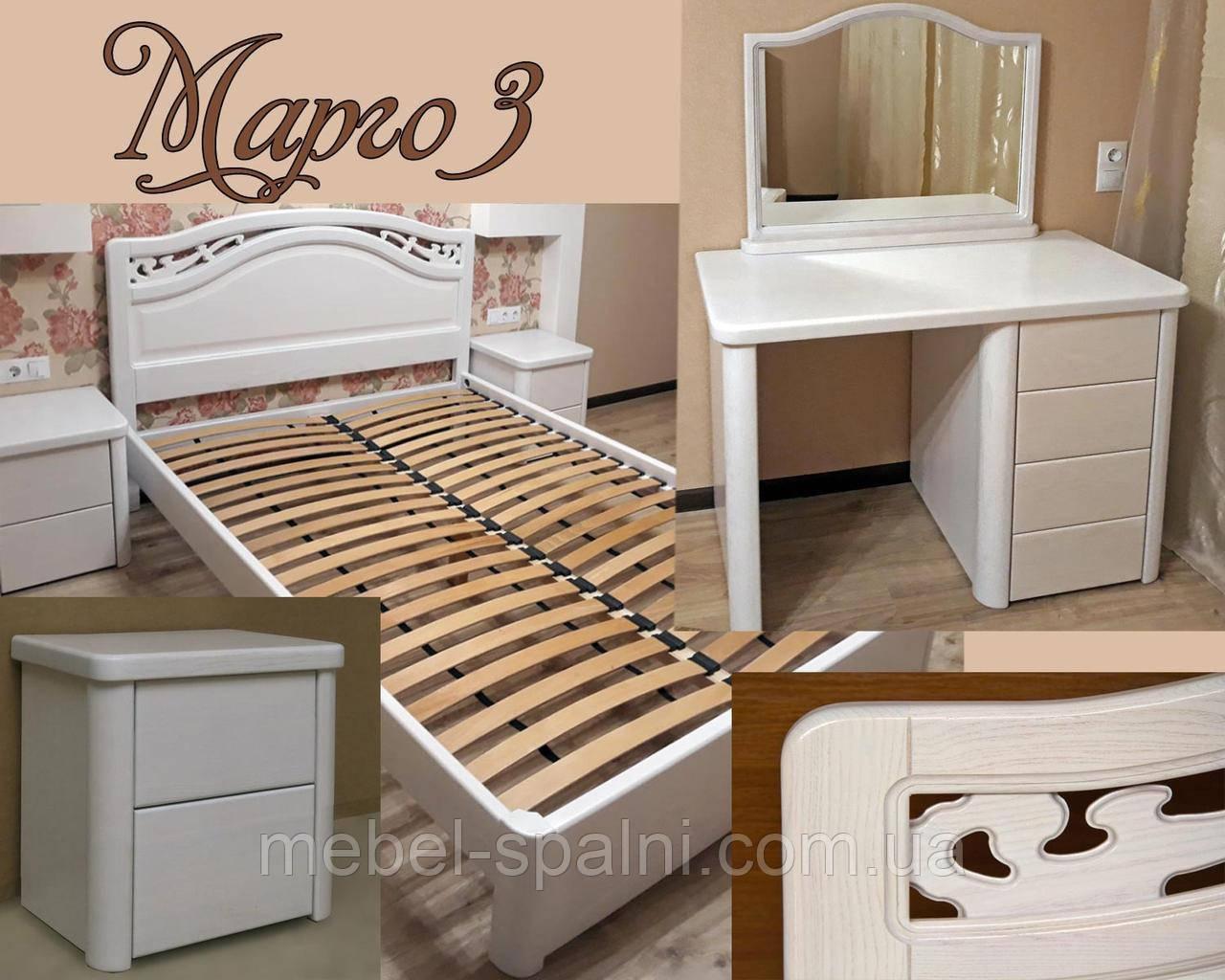 """Комплект мебели спальни """"Марго 3"""" спальный гарнитур. Деревянная белая, красивая спальня"""