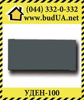 Теплый плинтус UDEN-100, 498х130х35, черный