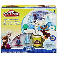 Пластилин Плей до Холодное сердце Снежный купол B0656 Play Doh Disney Frozen Sparkle Snow Dome Set with Elsa