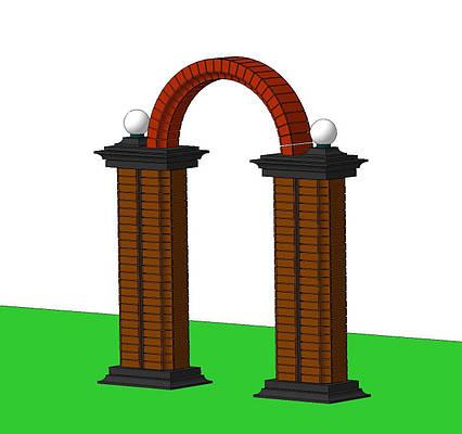 """""""VIP"""" АРКА садовая над калиткой забора воротами вход городского парка из арочных блоков кирпичей в сад и двор."""