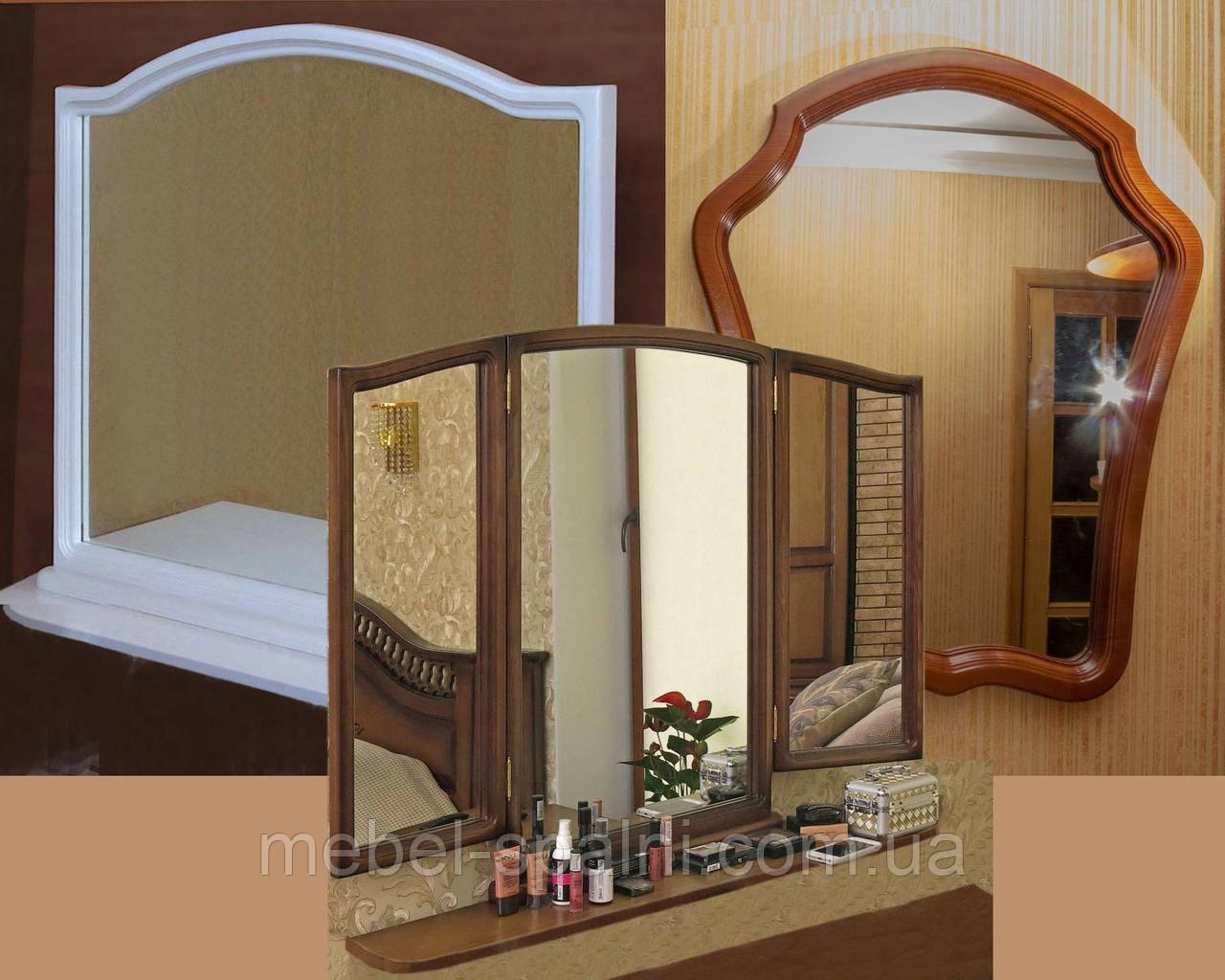 Зеркало в раме настенное в прихожую, спальню из ясеня