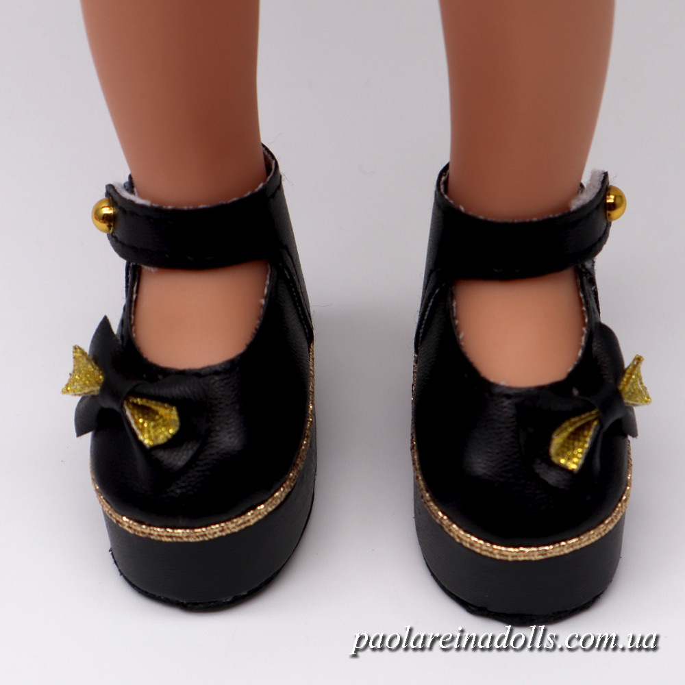 Туфли на платформе черные для кукол Паола Рейна