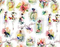 """Бумага упаковочная PVM10-7 """"Le parfum de Paris"""" меловка, 70х100см 10листов 80г/м2"""