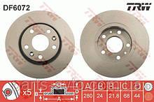 Диск тормозной вентилируемый Duster 4x4. (d=280mm) TRW DF6072, 402060010R
