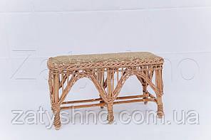 Диван плетеный |скамейка с мягкой сидушкой | диван скамейка плетеная