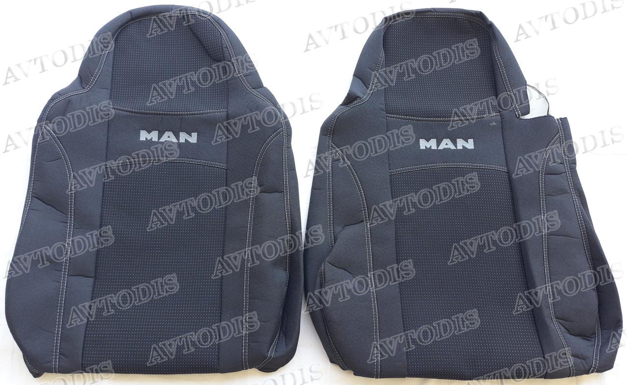 Авточехлы MAN TGX 1+1 2007- (серый) Nika
