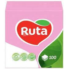 """Серветки""""Ruta"""" 24*24 1- шар 100шт.рожеві"""