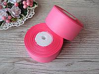 Лента репсовая 4 см ярко розовый, бобина 18 м - 51 грн, фото 1