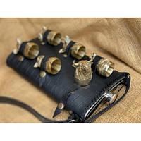 Набор люкс фляга с бронзовыми чарками Звери 6 шт Nb art  48440043