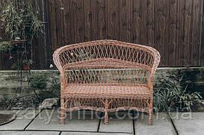 Диван плетеный со спинкой |скамейка из лозы | диван плетеный на 3 ножках