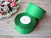 Лента репсовая 4 см ярко зеленый, бобина 18 м - 51 грн, фото 1