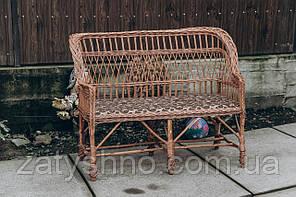 Диван плетеный мягкой |скамейка плетеная  | диван скамейка плетеная с подушкой