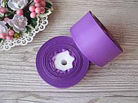 Лента репсовая 4 см ярко светло фиолетовый, бобина 18 м - 51 грн, фото 1