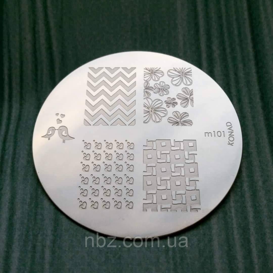 Пластина для стемпинга Konad-m101