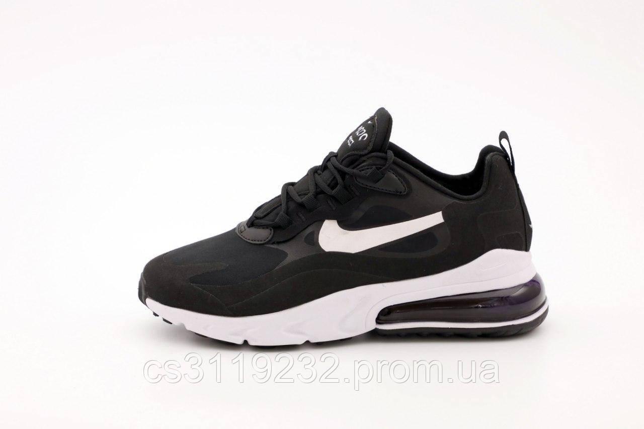 Мужские кроссовки Nike Air Max 270 React  Black White (черно-белые)