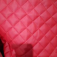 Меблевий шкірозамінник кожзам для обшивки м'яких меблів ширина 140 см ромб червоний, фото 1