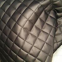 Мебельный кожзаменитель кожзам для обшивки мягкой мебели ширина 140 см ромб черный