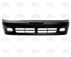 Передний бампер Daewoo Lanos / Sens 98-, черный, без шины (FPS) 96226147