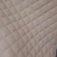 Меблевий шкірозамінник кожзам для обшивки м'яких меблів ширина 140 см ромб 1, фото 1